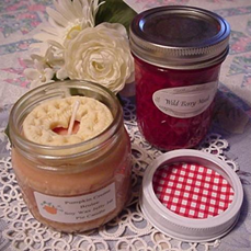 Half Pint Jelly Jar Pie Candles